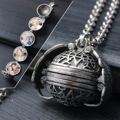 Inspire Uplift Magical Expandable Photo Locket Antique Silver Magical Expandable Photo Locket