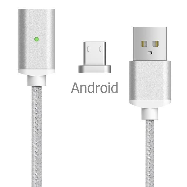 Inspire Uplift Magnetic Charger Cable Android-Silver / 1m Magnetic Charger Cable