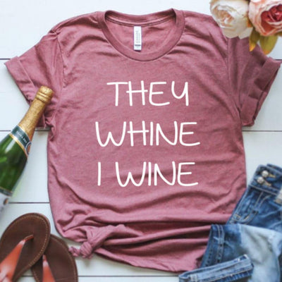 Inspire Uplift Mama Loves Wine T-Shirt Mauve / L Mama Loves Wine T-Shirt