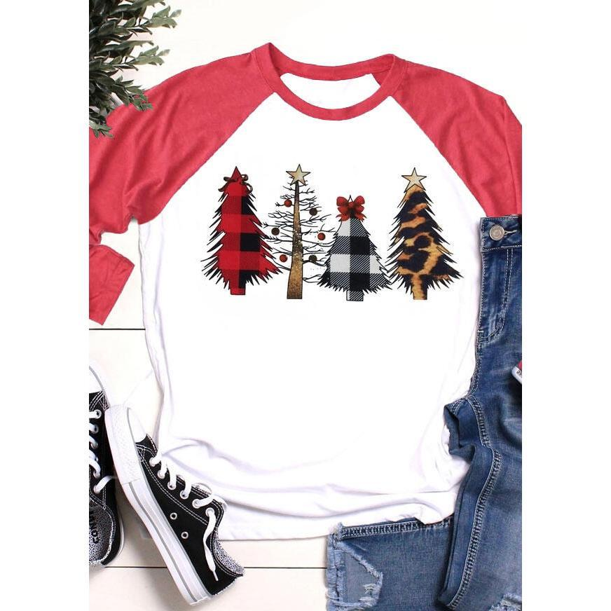 Inspire Uplift Merry Christmas Trees Shirt Red / S Merry Christmas Trees Shirt