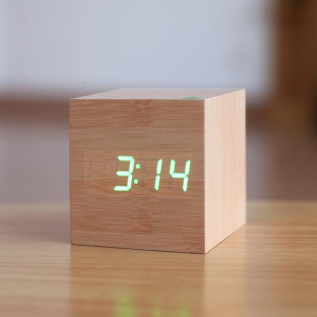 Inspire Uplift Modern Digital Wood Clock