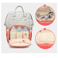 Inspire Uplift Mummy Diaper Backpack Coral Striped Mummy Diaper Backpack