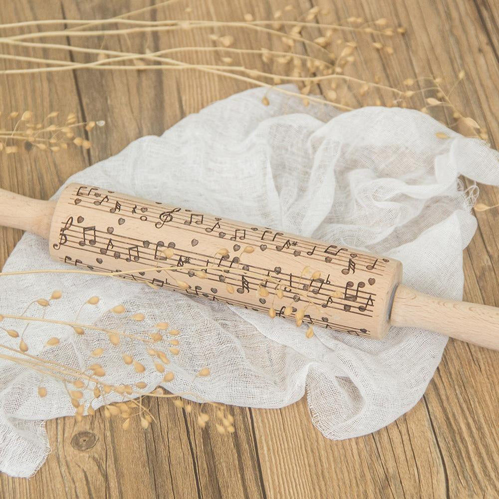 Inspire Uplift Musical Notes Rolling Pin Musical Notes Pattern Musical Notes Rolling Pin