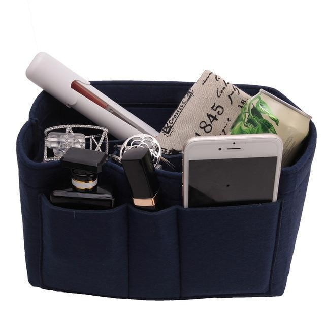 Inspire Uplift Navy / Small Multi-Pocket Handbag Organizer