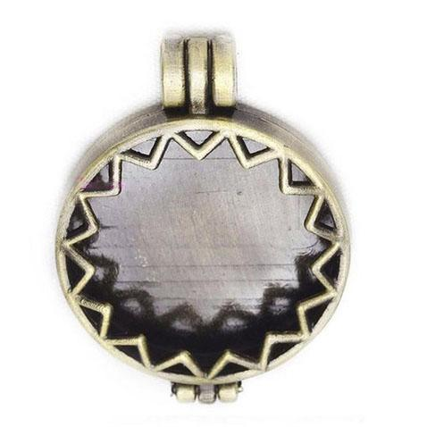 "Inspire Uplift Necklace Moroccan Gold / 31""/70cm Antique Oil Diffuser Necklace"