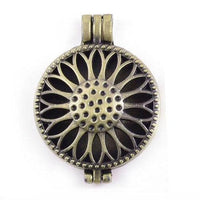 "Inspire Uplift Necklace Sunflower Gold / 31""/70cm Antique Oil Diffuser Necklace"