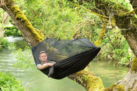Inspire Uplift Others & Gifts Black Treehouse Mosquito Net Hammock