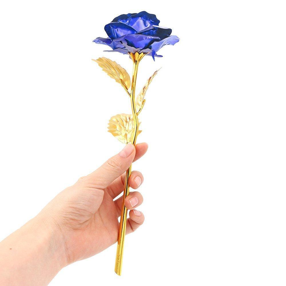 Inspire Uplift Others & Gifts Blue Everlasting Gold Rose