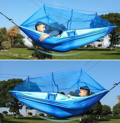 Inspire Uplift Others & Gifts Blue Treehouse Mosquito Net Hammock