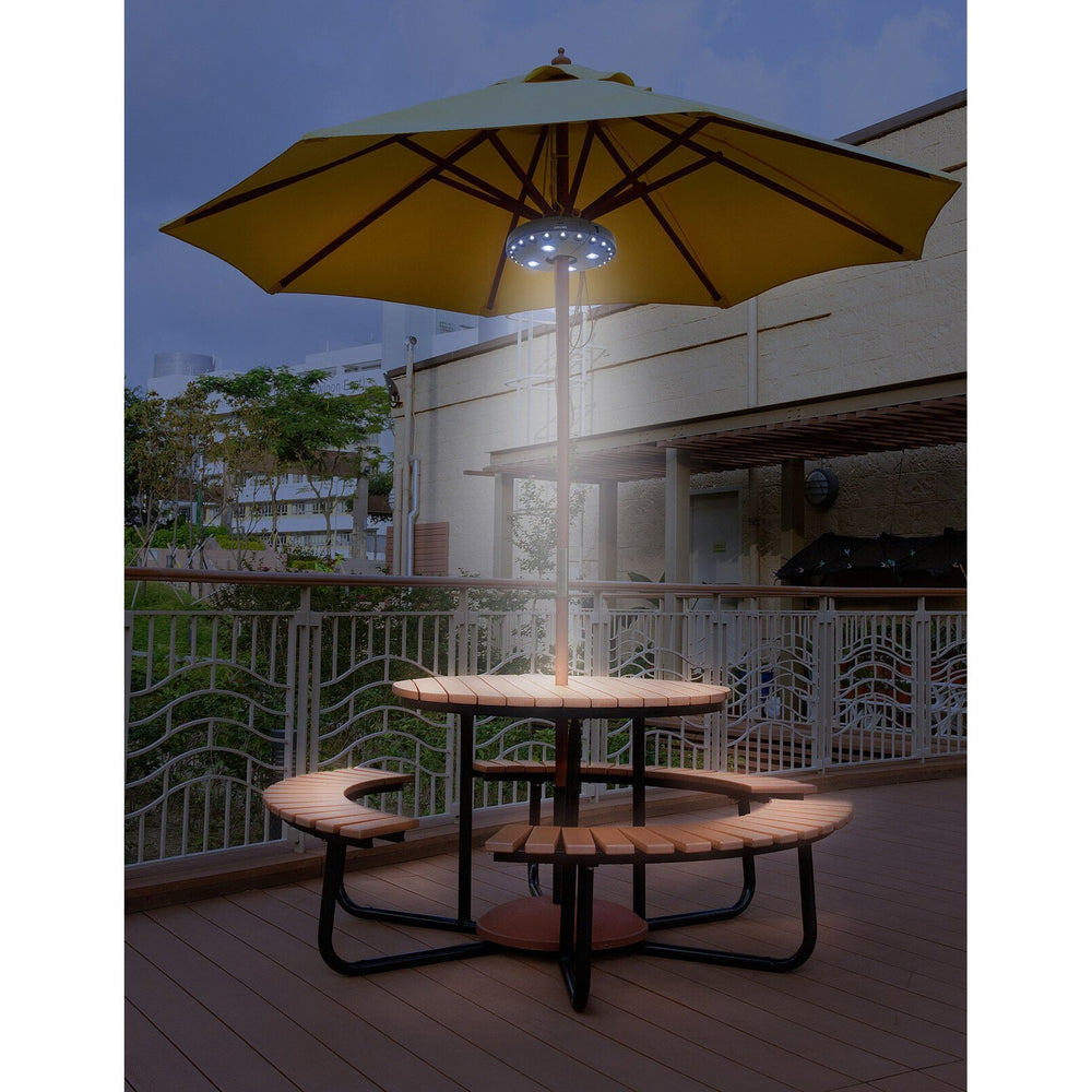 Inspire Uplift Patio Umbrella Light White Patio Umbrella Light
