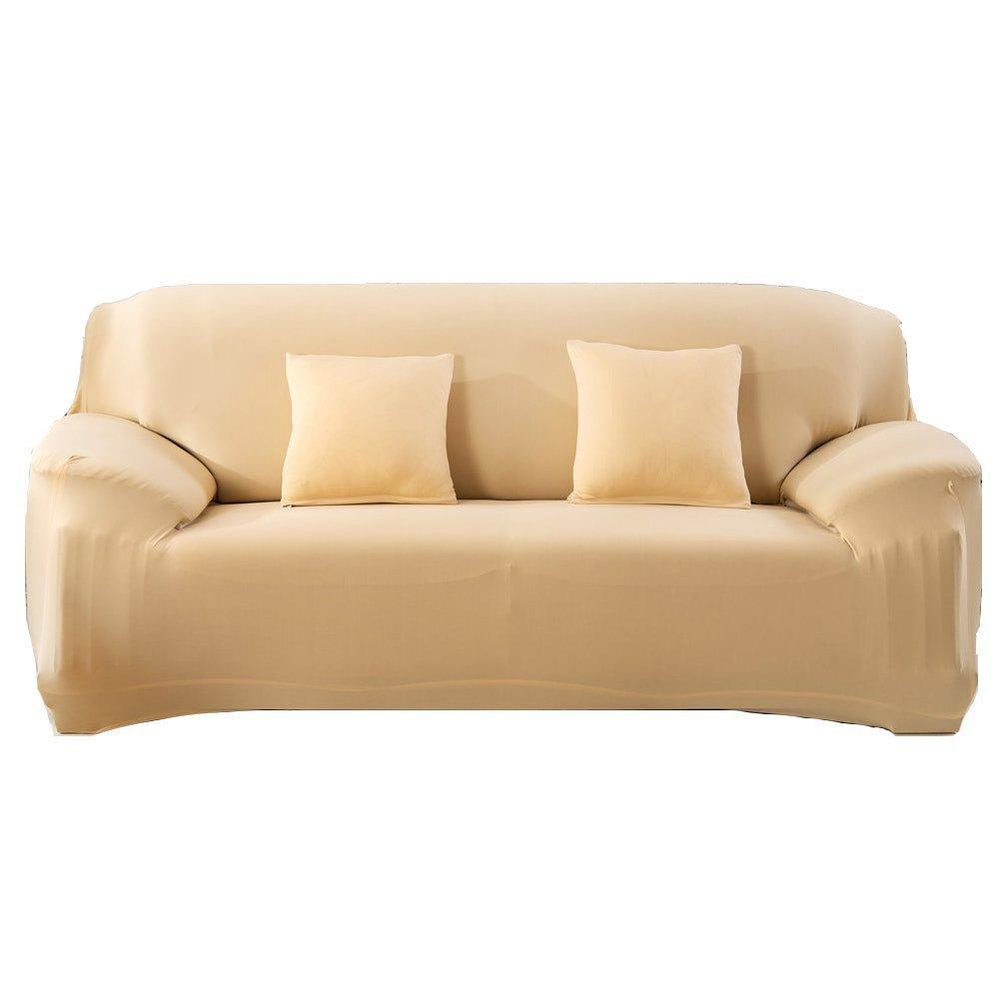 Inspire Uplift Perfect Fit Sofa Slipcover Beige / Two Seats Perfect Fit Sofa Slipcover