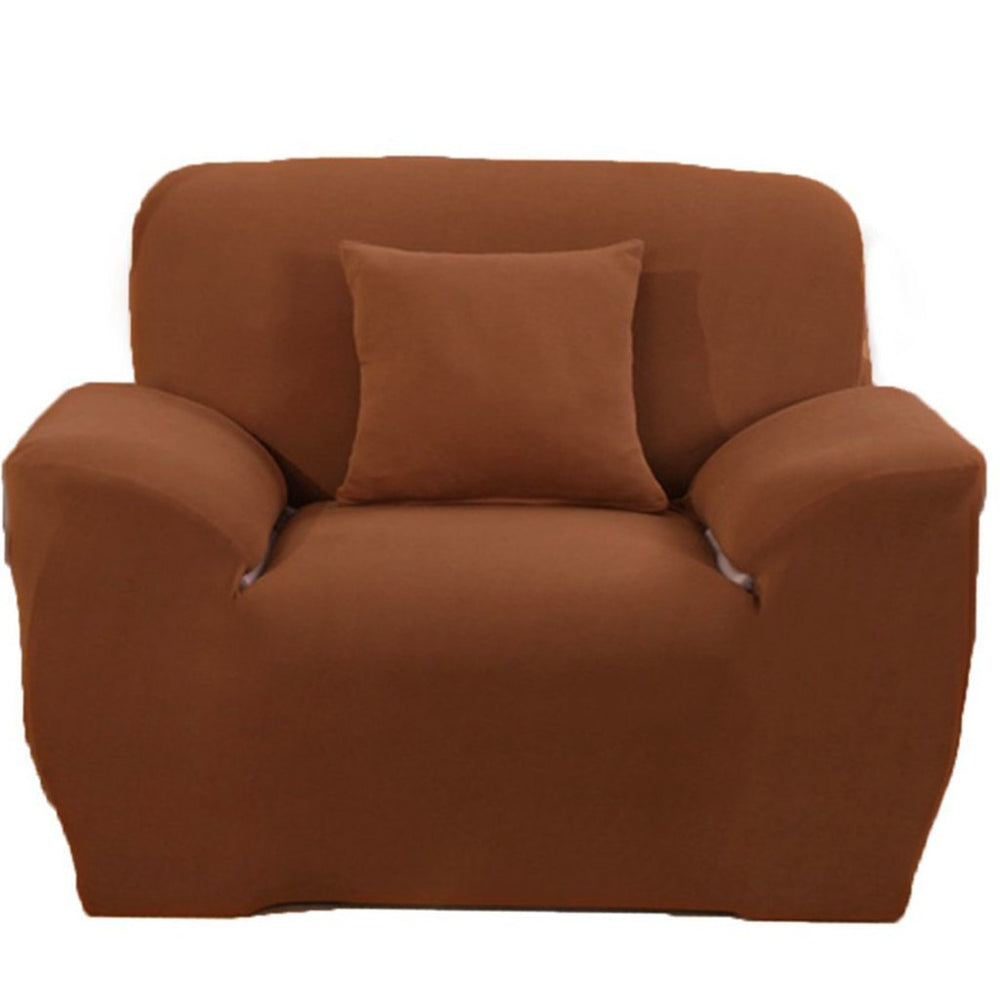 Inspire Uplift Perfect Fit Sofa Slipcover Brown / One Seat Perfect Fit Sofa Slipcover