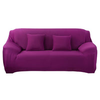 Inspire Uplift Perfect Fit Sofa Slipcover Purple / 2 x Pillowcases Perfect Fit Sofa Slipcover