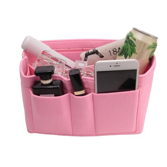 Inspire Uplift Pink / Small Multi-Pocket Handbag Organizer