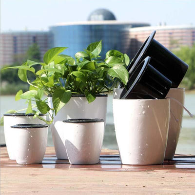 Inspire Uplift Planter White / Large Self Watering Hanging Basket