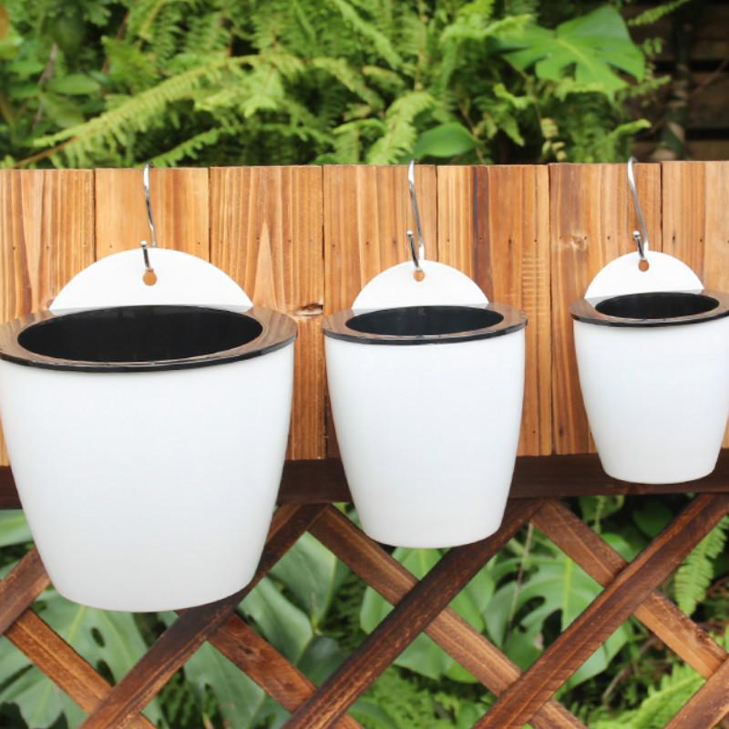 Inspire Uplift Planter White / Medium Self Watering Hanging Basket