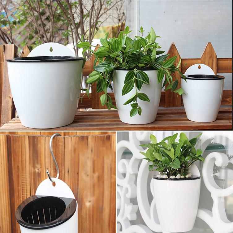 Inspire Uplift Planter White / Small Self Watering Hanging Basket