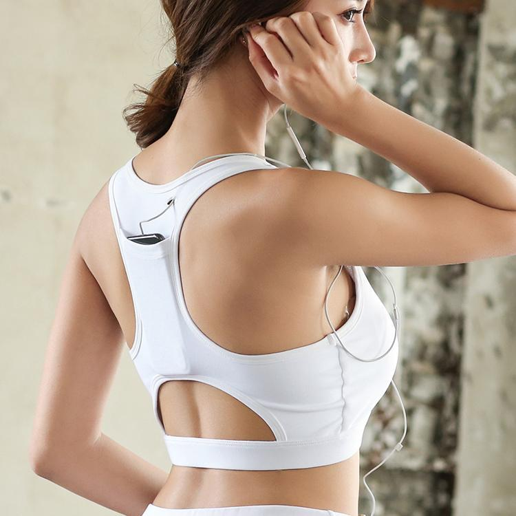 Inspire Uplift Pocket Sport Bra White / XL / 32 Pocket Sport Bra