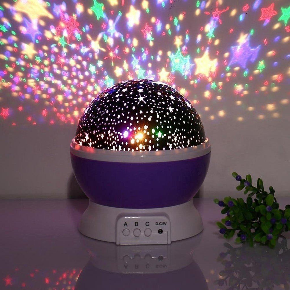 Inspire Uplift Purple Space Projector Lamp