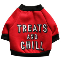 "Inspire Uplift Red / L ""Treats And Chill"" Custom Dog T-Shirt"