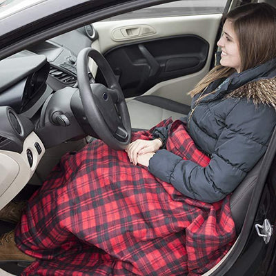 Inspire Uplift Red Premium Cozy Car Heating Blanket