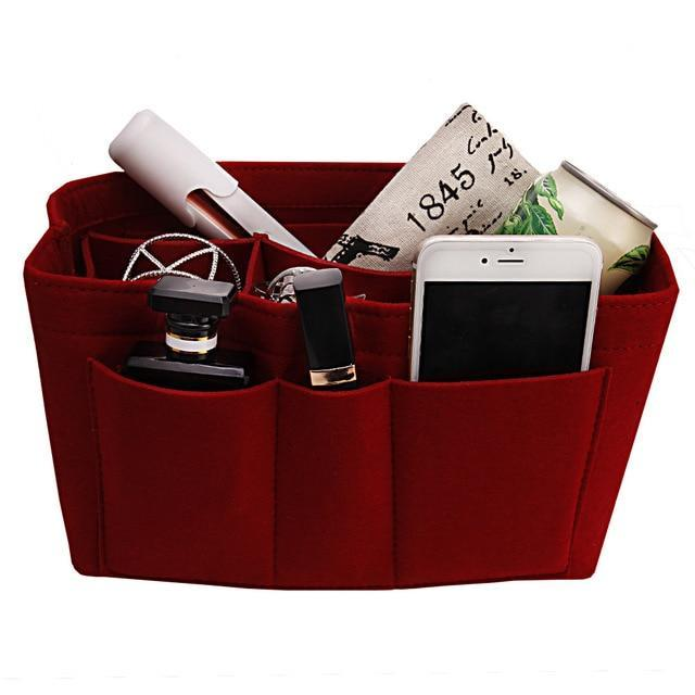 Inspire Uplift Red / Small Multi-Pocket Handbag Organizer