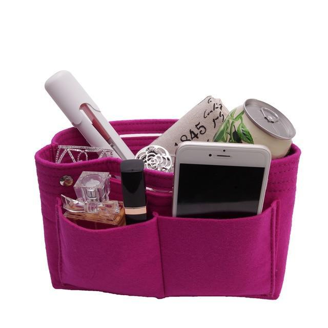 Inspire Uplift Rose red / Small Multi-Pocket Handbag Organizer