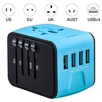 Inspire Uplift Smart Travel Adapter Blue Smart Travel Adapter