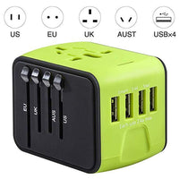 Inspire Uplift Smart Travel Adapter Green Smart Travel Adapter