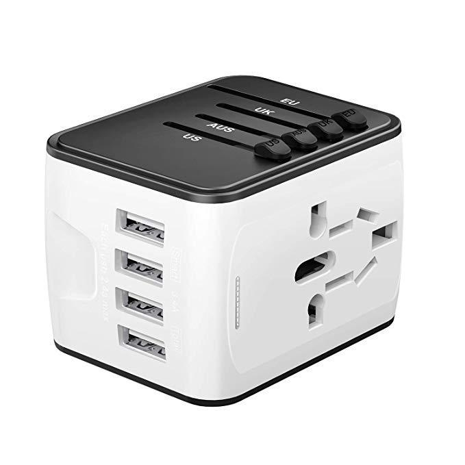 Inspire Uplift Smart Travel Adapter White Smart Travel Adapter