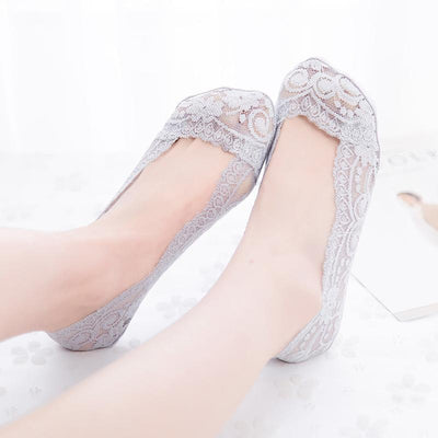 Inspire Uplift Socks Grey / One Size Lace Scalloped Socks
