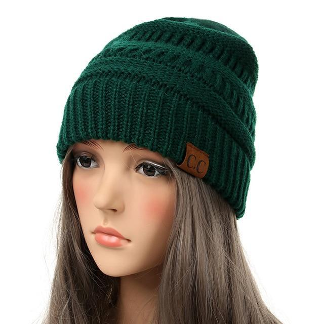 6f66d3a572b ... Inspire Uplift Soft Knit Slouchy Beanie Forest Green Soft Knit Slouchy  Beanie ...