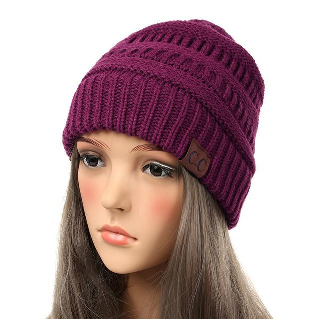 df925d015bf ... Inspire Uplift Soft Knit Slouchy Beanie Plum Soft Knit Slouchy Beanie  ...