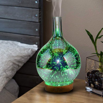 Inspire Uplift Stardust Oil Diffuser Light Wood Stardust Oil Diffuser