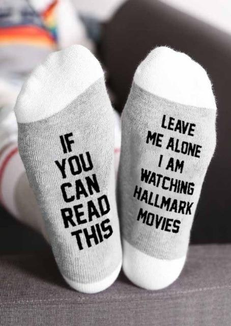 Inspire Uplift Style 2 Leave Me Alone I Am Watching Hallmark Movies Socks