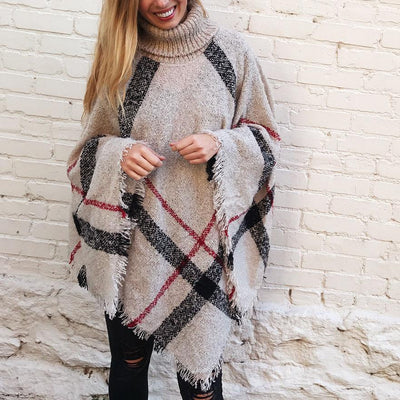 Inspire Uplift Sweater Ivory / One Size Cozy Poncho Sweater