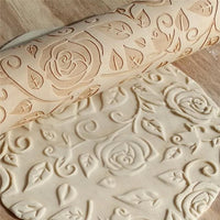 Inspire Uplift Sweet Love 3D Rolling Pin Rose Pattern Sweet Love 3D Rolling Pin