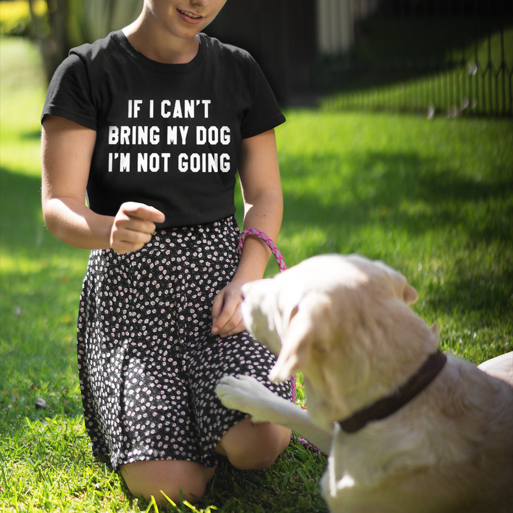 Inspire Uplift T-Shirt Black / S If I Can't Bring My Dog T-Shirt