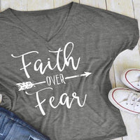 Inspire Uplift T-shirt Gray / XL Faith Over Fear T-shirt