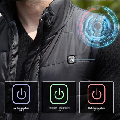 Inspire Uplift Tech Heated Vest S / Black Tech Heated Vest