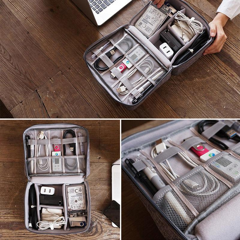 Inspire Uplift Tech Travel Organizer Bag Light Grey Tech Travel Organizer Bag