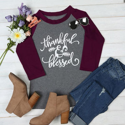 Inspire Uplift Thankful & Blessed Top S Thankful & Blessed Top