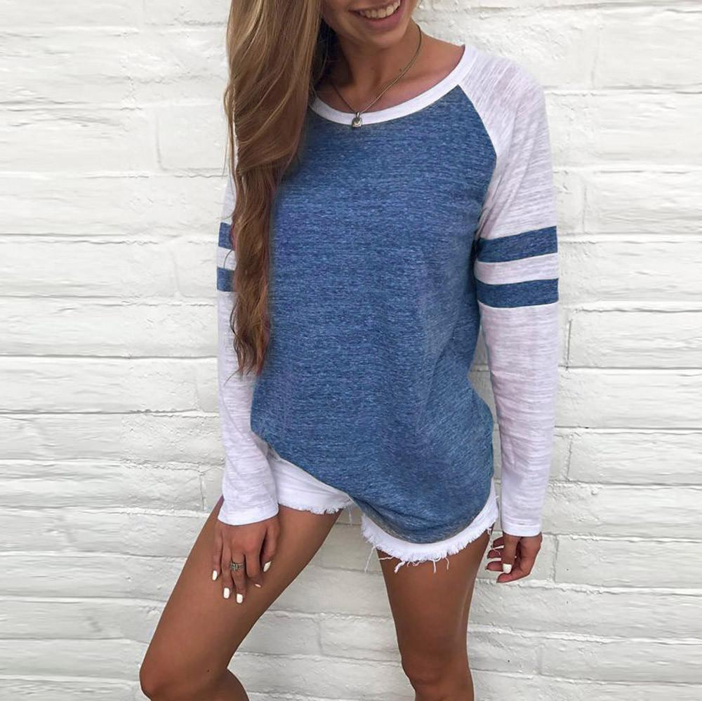 Inspire Uplift The Softest Top Colorblock Blue / S The Softest Top Colorblock