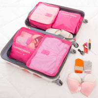 Inspire Uplift Travel Packing Organizer Set Pink Travel Packing Organizer Set
