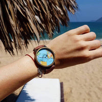 Inspire Uplift Vintage World Traveler Watch Brown Vintage World Traveler Watch