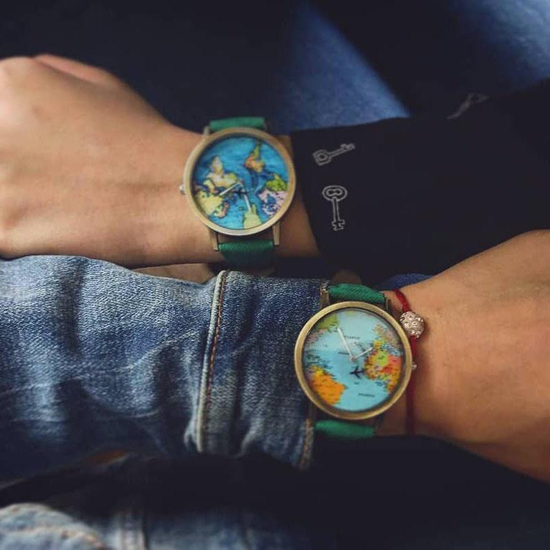 Inspire Uplift Vintage World Traveler Watch Vintage World Traveler Watch