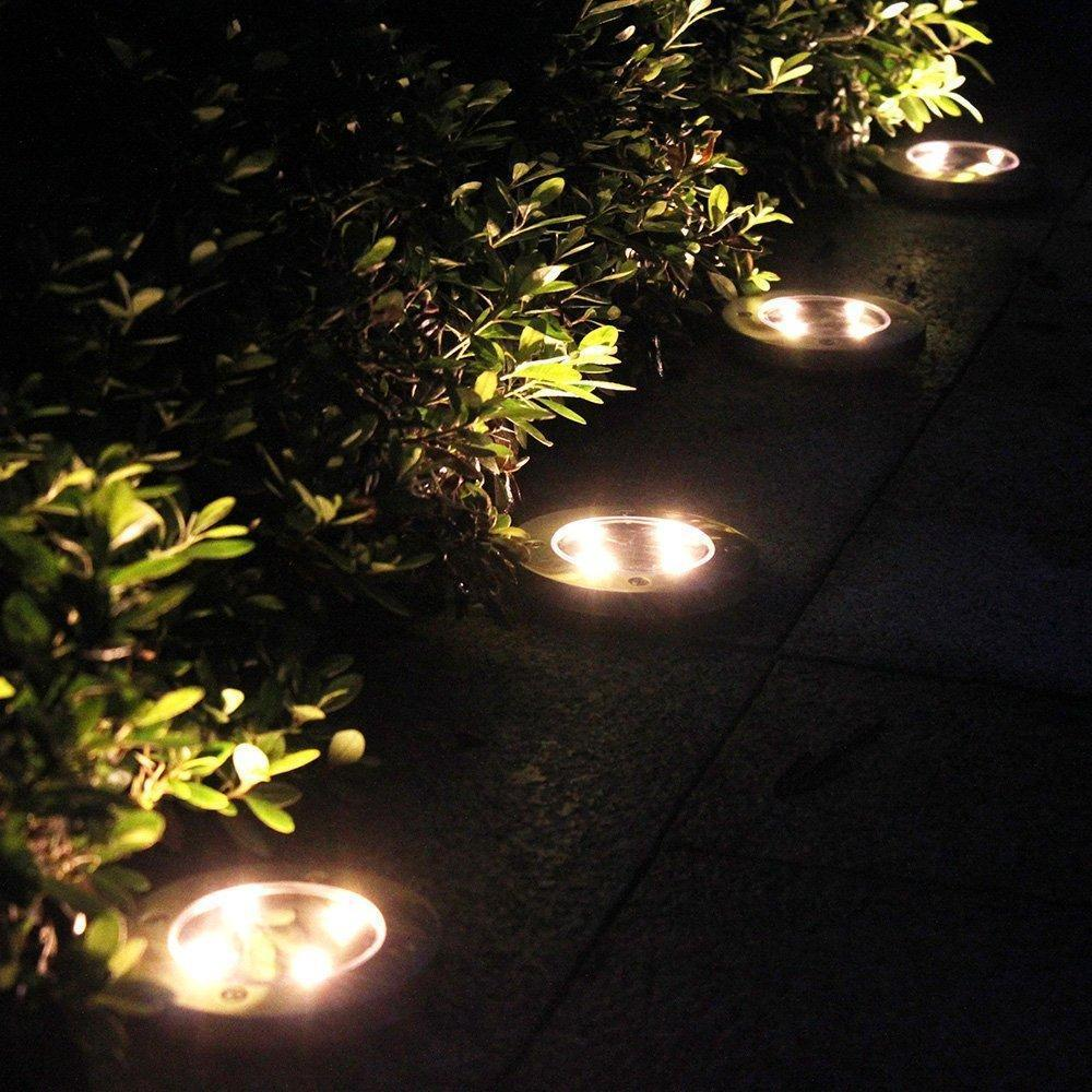 Outdoor Solar Lights In Ground: LED Solar Powered In-Ground Lights
