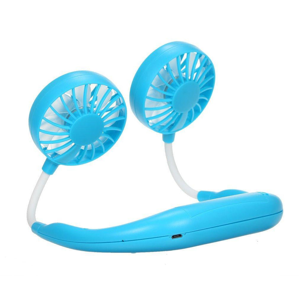 Inspire Uplift Wearable Cooler Fan Blue Wearable Cooler Fan