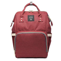 Inspire Uplift Wine Red Mummy Diaper Backpack