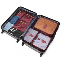Inspire Uplift wine red Travel Packing Organizer Set
